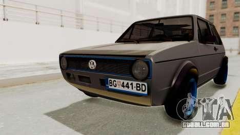 Volkswagen Golf 1 para GTA San Andreas
