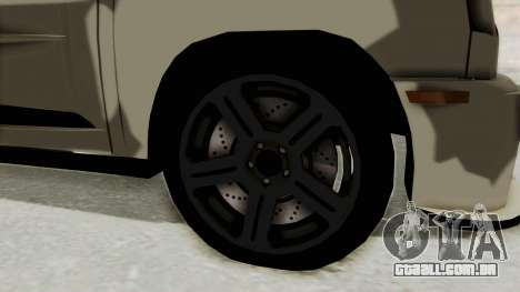Renault Turbo-S para GTA San Andreas vista traseira