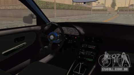 Nissan Silvia Sil80 para GTA San Andreas vista interior