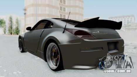 Nissan 350Z V6 Power para GTA San Andreas traseira esquerda vista
