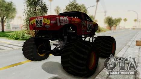 Pastrana 199 Monster Truck para GTA San Andreas vista direita