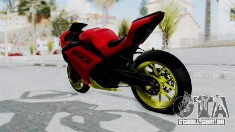 Kawasaki Ninja 250FI Anak Jalanan para GTA San Andreas traseira esquerda vista