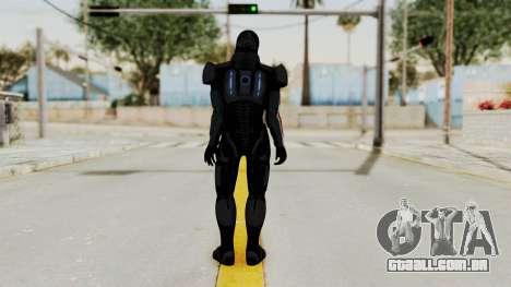 ME2 Shepard Default N7 Armor with Death Mask para GTA San Andreas terceira tela
