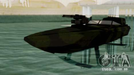 Triton Patrol Boat from Mercenaries 2 para GTA San Andreas vista direita