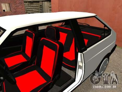 VAZ 2108 Stock by Greedy para GTA San Andreas vista traseira