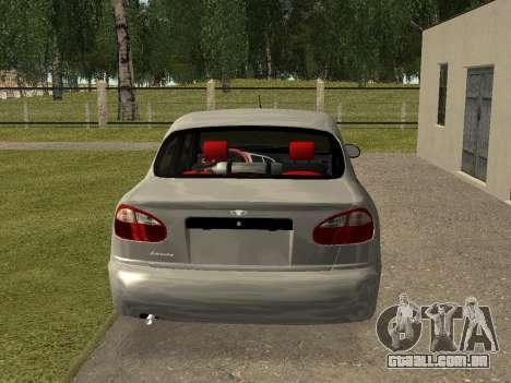 Daewoo Lanos (Sens) 2004 v2.0 by Greedy para GTA San Andreas vista direita