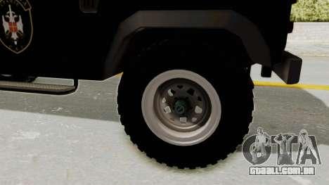 Land Rover Defender SAJ para GTA San Andreas vista traseira