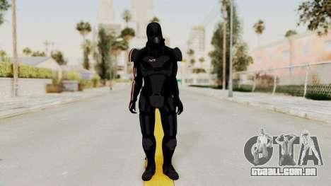 ME2 Shepard Default N7 Armor with Death Mask para GTA San Andreas segunda tela