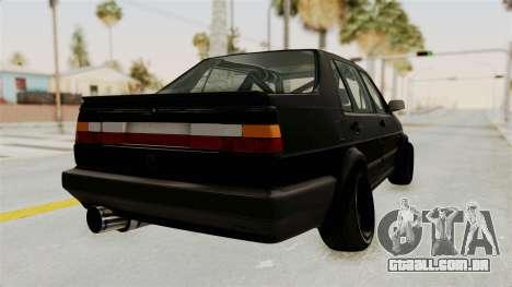 Volkswagen Jetta 2 para GTA San Andreas vista direita