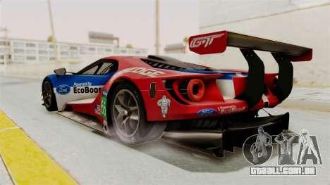 Ford GT 2016 LM para GTA San Andreas esquerda vista