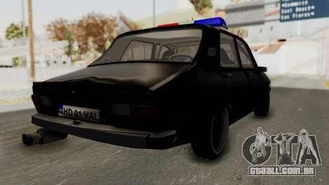 Dacia 1310 TX Turbo Police para GTA San Andreas traseira esquerda vista