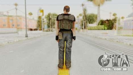 MGSV Phantom Pain RC Soldier T-shirt v1 para GTA San Andreas terceira tela