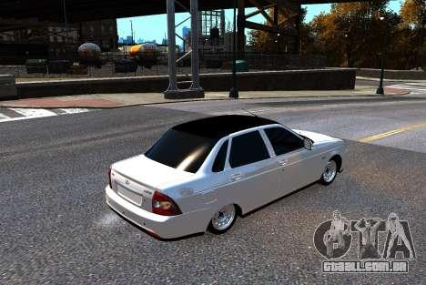 Lada Priora para GTA 4 vista de volta