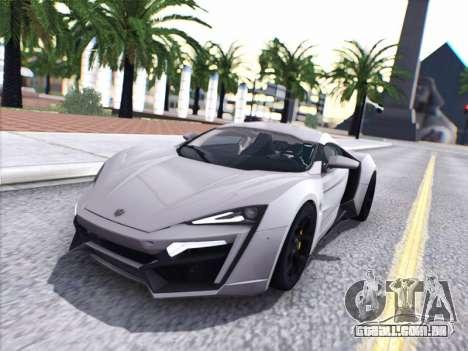 A W Motors, Lykan hypersport 2015 HQ para GTA San Andreas