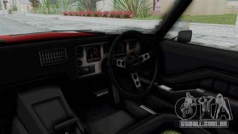 Holden Monaro GTS 1971 AU Plate HQLM para GTA San Andreas vista interior
