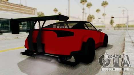 GTA 5 Annis Elegy Twinturbo No Spec para GTA San Andreas esquerda vista