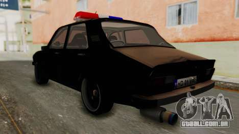 Dacia 1310 TX Turbo Police para GTA San Andreas esquerda vista