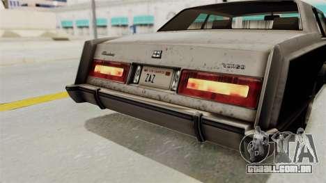 GTA 5 Dundreary Virgo SA Style para GTA San Andreas vista inferior