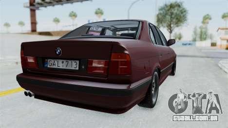 BMW 525i E34 1994 LT Plate para GTA San Andreas esquerda vista