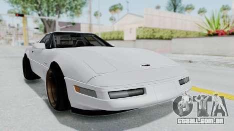 Chevrolet Corvette C4 Drift para GTA San Andreas traseira esquerda vista