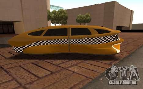 Flying Taxi para GTA San Andreas esquerda vista