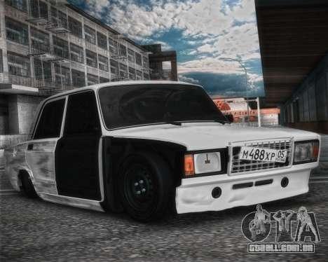 VAZ 2107 Hobo para GTA San Andreas traseira esquerda vista