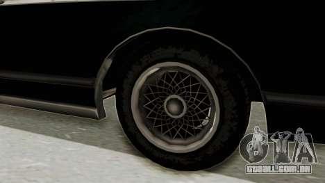 GTA 5 Dundreary Virgo SA Style para GTA San Andreas vista traseira