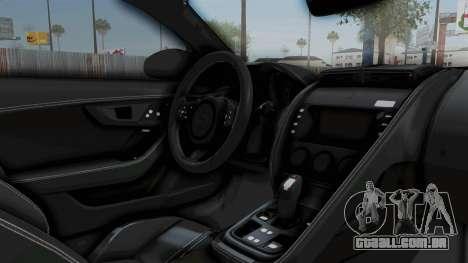 Jaguar F-Type Coupe 2015 para GTA San Andreas vista interior