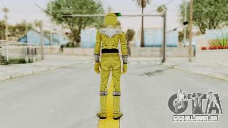 Power Rangers Time Force - Yellow para GTA San Andreas terceira tela