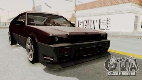 Blista CRX para GTA San Andreas vista direita