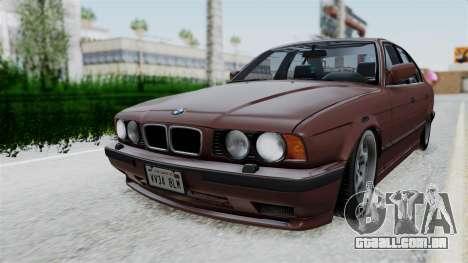 BMW 525i E34 1994 SA Plate para GTA San Andreas traseira esquerda vista
