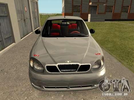 Daewoo Lanos (Sens) 2004 v2.0 by Greedy para GTA San Andreas esquerda vista