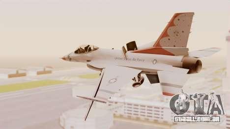 General Dynamics F-16A USAF Thunderbirds para GTA San Andreas vista direita