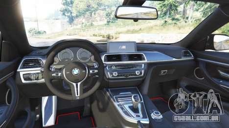 GTA 5 BMW M4 GTS traseira direita vista lateral