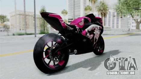 Kawasaki Ninja 250FI Enoshima Junko para GTA San Andreas traseira esquerda vista