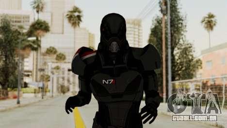 ME2 Shepard Default N7 Armor with Death Mask para GTA San Andreas