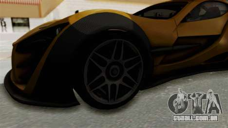 Felino CB7 para GTA San Andreas vista traseira