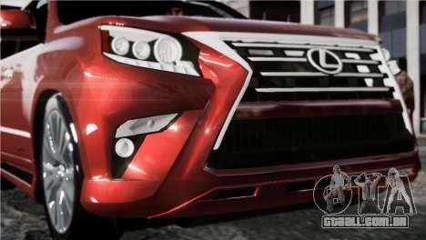Lexsus GX460 para GTA 4 traseira esquerda vista