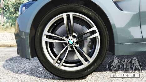 GTA 5 BMW M4 GTS frente vista lateral direita