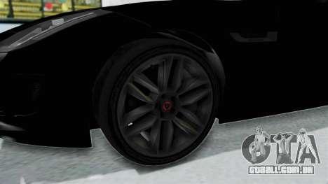 Jaguar F-Type Coupe 2015 para GTA San Andreas vista traseira