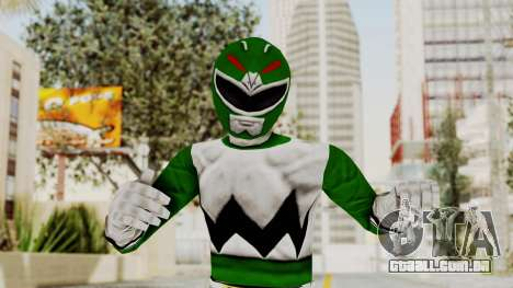 Power Rangers Lost Galaxy - Green para GTA San Andreas