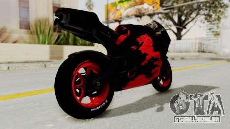 Bati Batik Hellboy Motorcycle v3 para GTA San Andreas vista direita