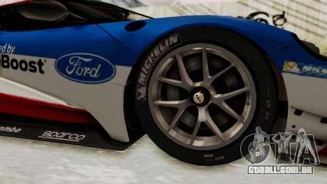 Ford GT 2016 LM para GTA San Andreas vista traseira