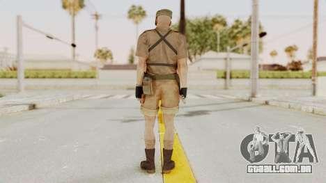 MGSV Phantom Pain CFA Combat Vest 1 v2 para GTA San Andreas terceira tela