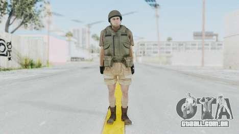 MGSV Phantom Pain CFA Vest v2 para GTA San Andreas segunda tela