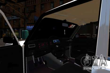 VAZ 2107 BPAN para GTA 4 vista de volta