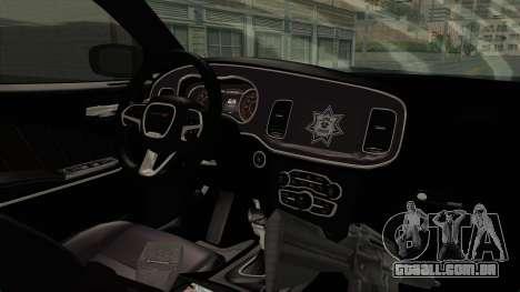 Dodge Charger RT 2016 Federal Police para GTA San Andreas vista interior