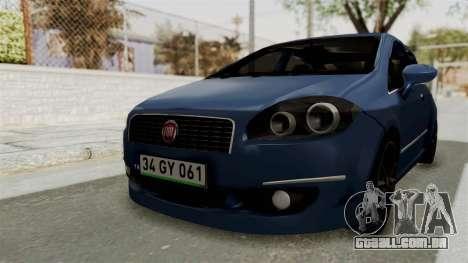 Fiat Linea 2011 para GTA San Andreas vista direita