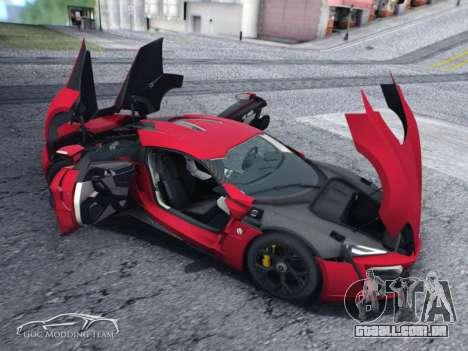 A W Motors, Lykan hypersport 2015 HQ para GTA San Andreas traseira esquerda vista