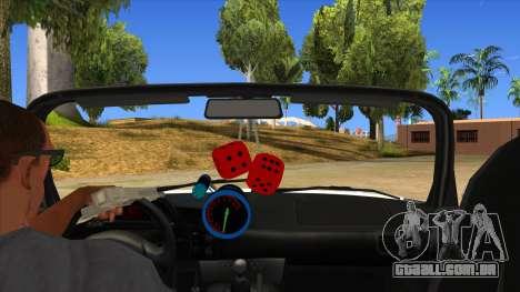 Honda S2000 MA Tunning para GTA San Andreas vista interior